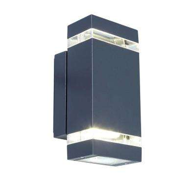 9 in. Dark Gray Outdoor Integrated LED Wall Mount Sconce