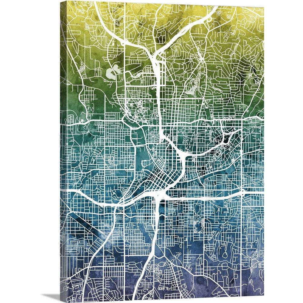 City Map Of Atlanta Georgia.Greatbigcanvas 30 In X 40 In Atlanta Georgia City Map By Michael