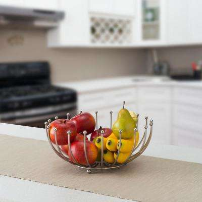 Satin Nickel Fruit Basket