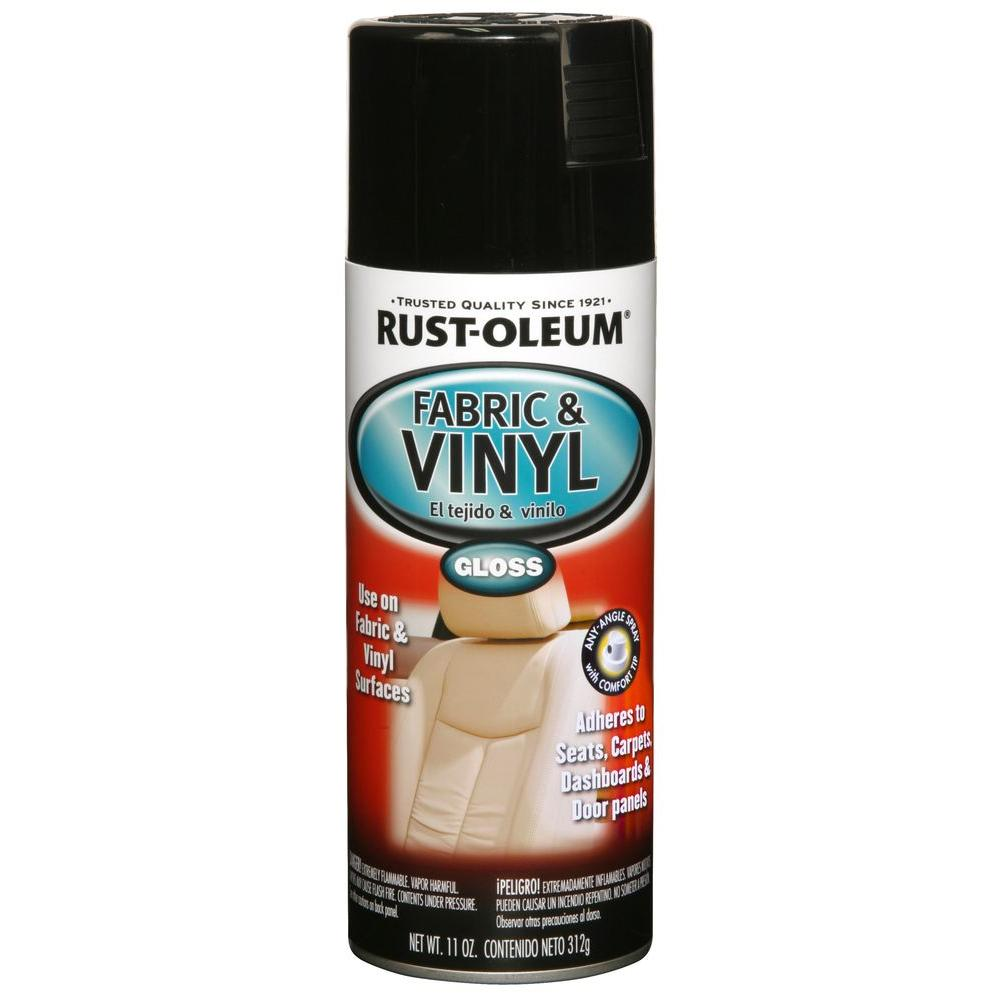 Rust-Oleum Automotive 11 oz. Gloss Black Vinyl and Fabric...