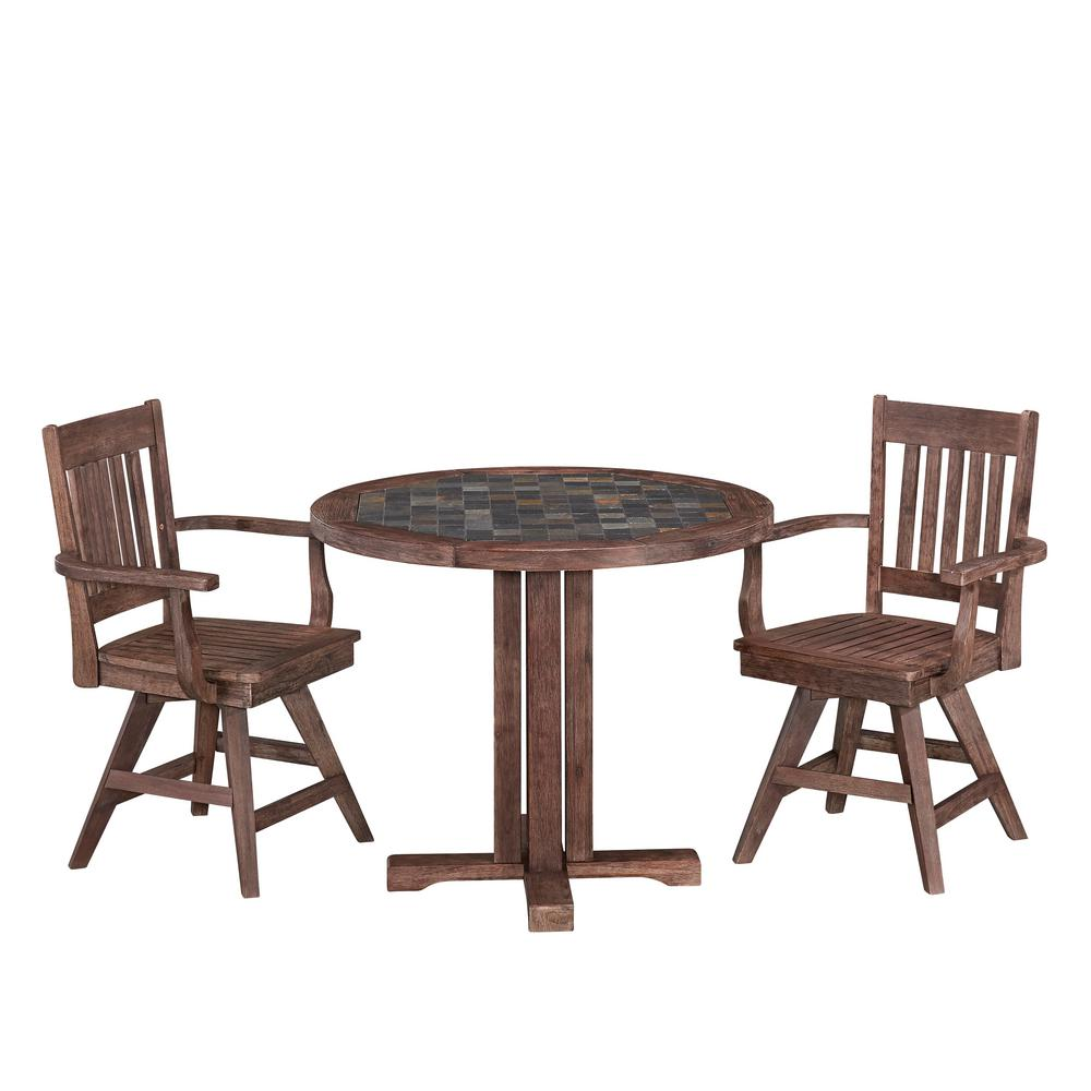 home styles morocco 3 piece patio dining set 5601 325 the home depot. Black Bedroom Furniture Sets. Home Design Ideas