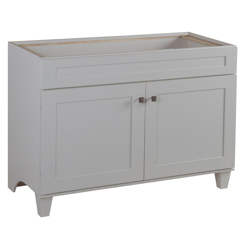 Home Decorators Collection Lansbury 48 in. W x 21 in. D Vanity Cabinet in Classic White