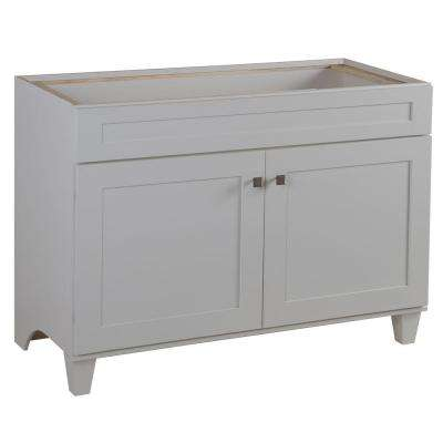 Lansbury 48 in. W x 21 in. D Vanity Cabinet in Classic White