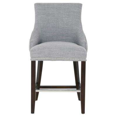 Avenue 26 in. Smoke Fabric, Espresso Counter Stool