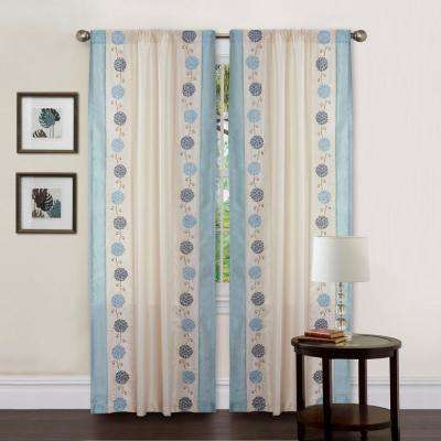 Annabelle Window Panel in Blue - 84 in .L x 42 in. W