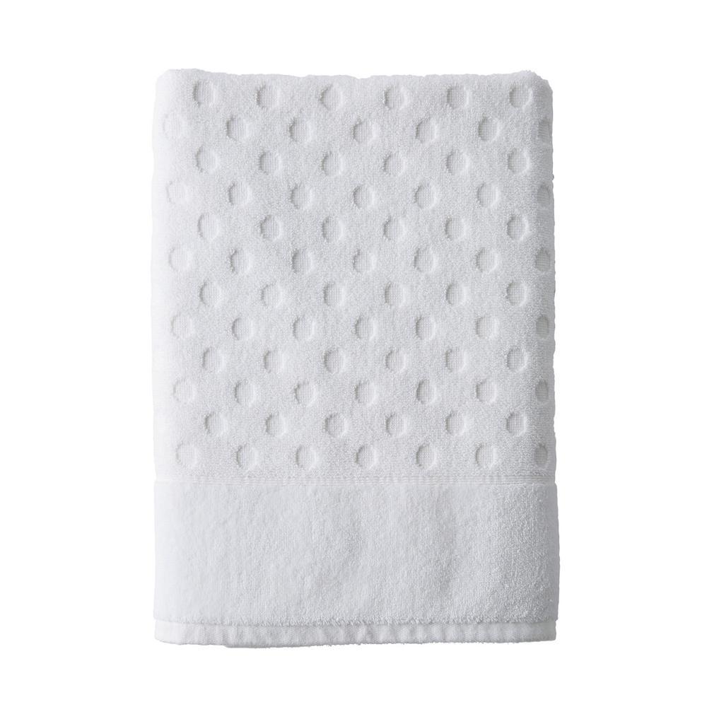 Dot White Solid Supima Cotton Bath Sheet
