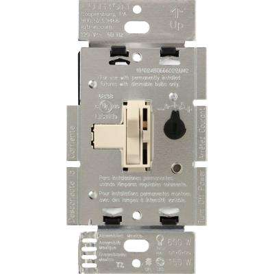 Toggler C.L Dimmer Switch for Dimmable LED, Halogen and Incandescent Bulbs, Single-Pole or 3-Way, Light Almond