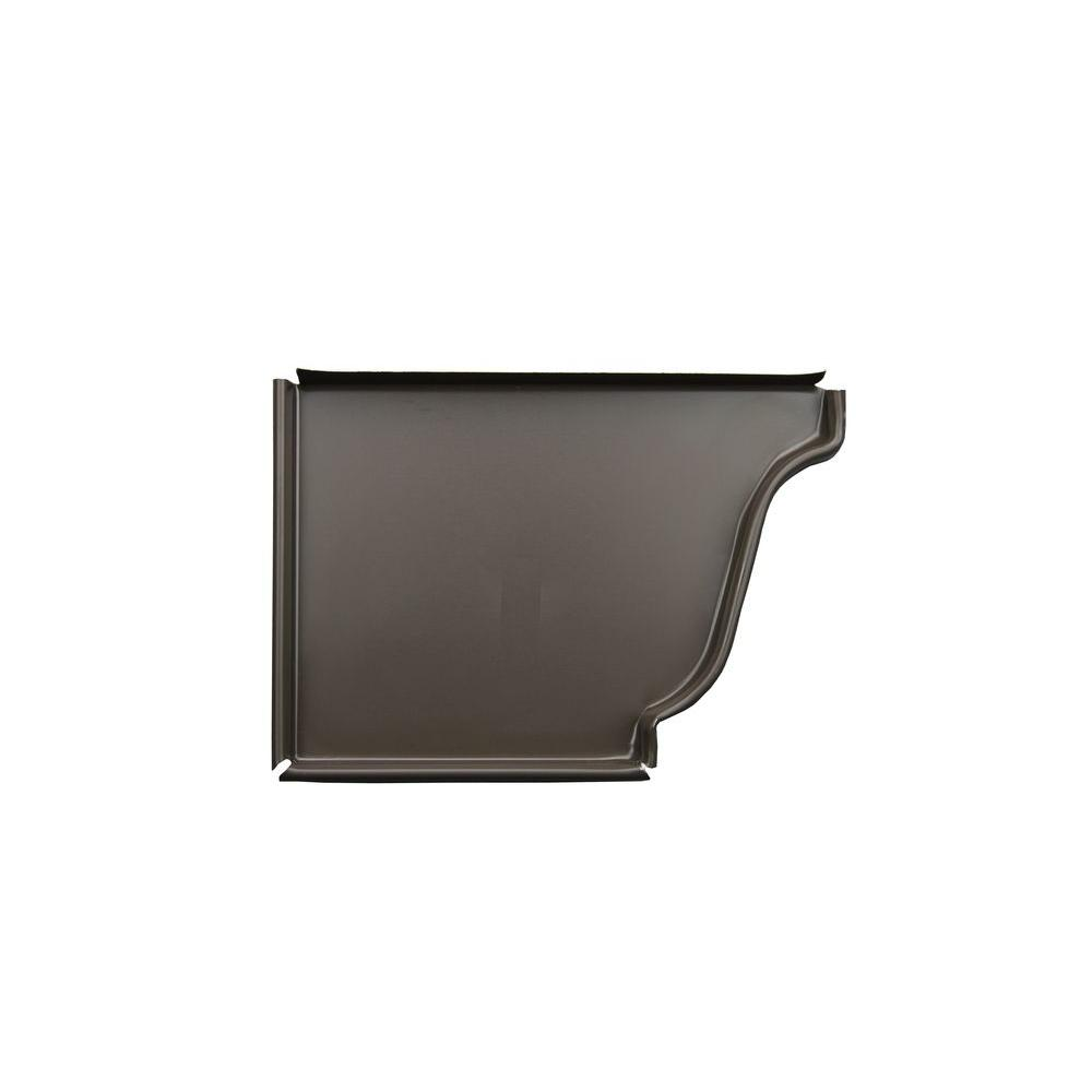 5 in. Musket Brown Aluminum Left End Cap