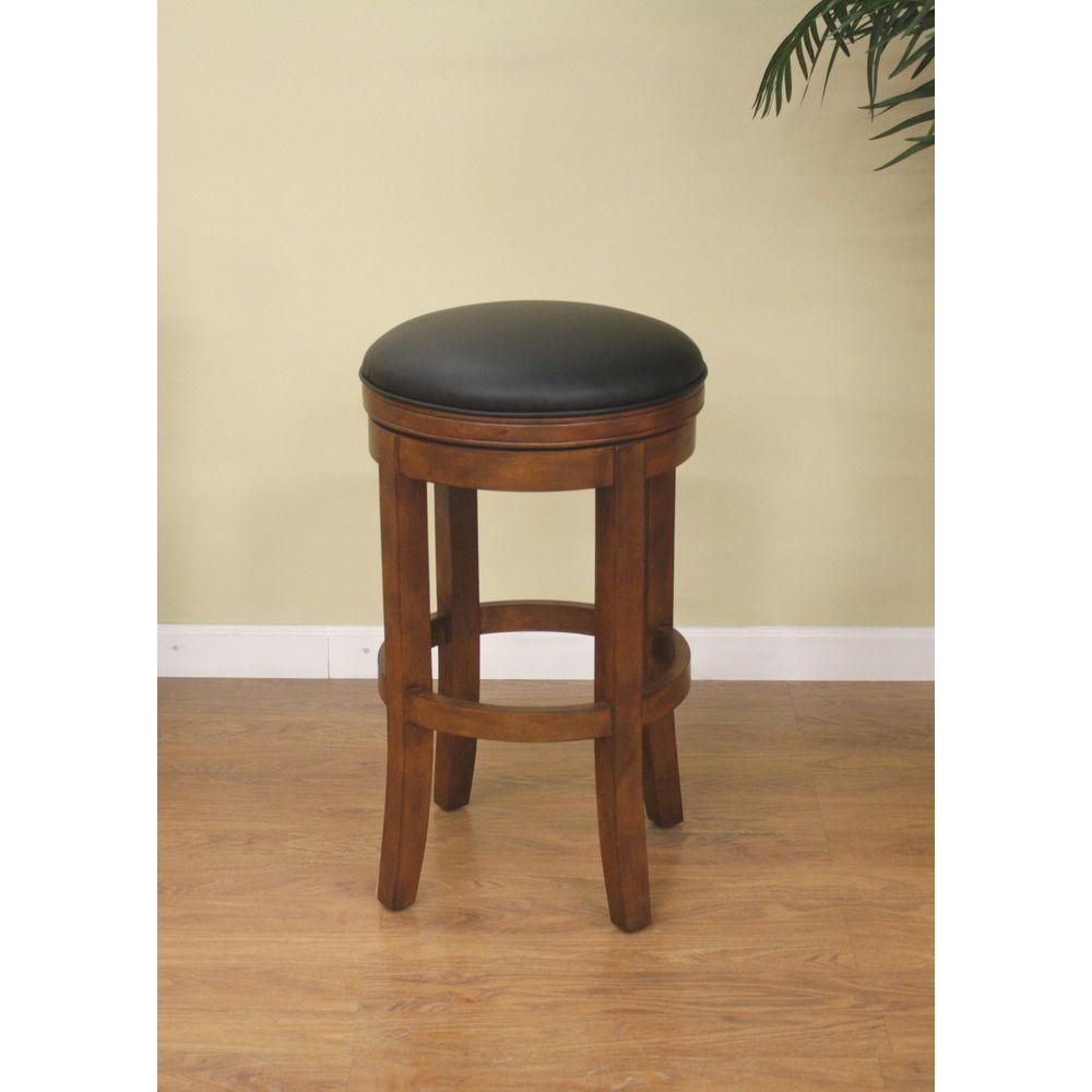Winston 30 in. Amaretto Cushioned Bar Stool