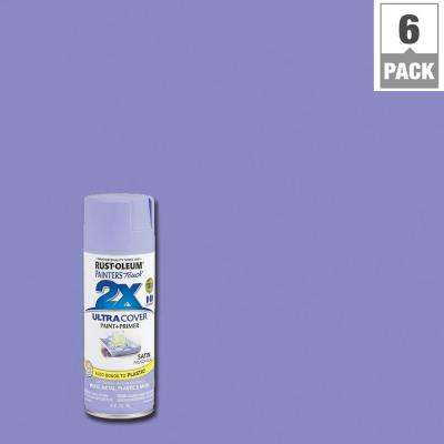 12 oz. Satin French Lilac General Purpose Spray Paint (6-Pack)