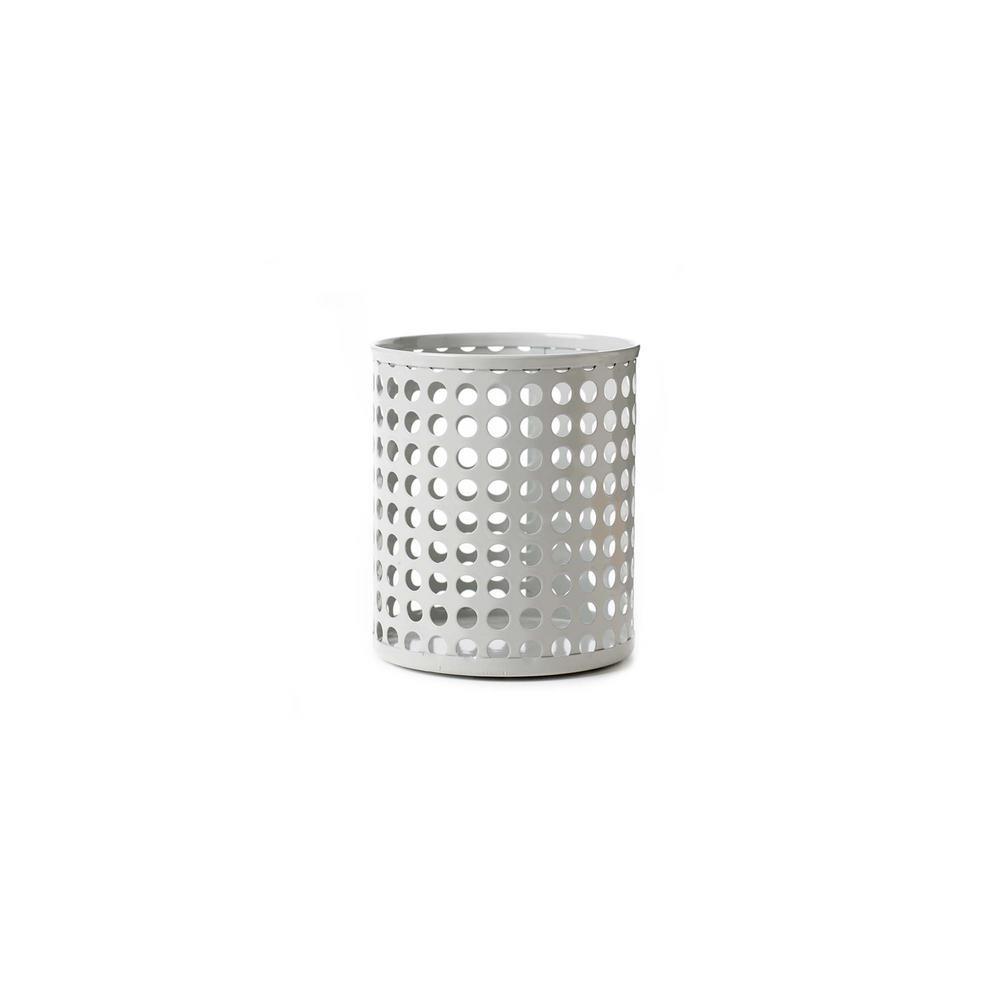 Design Ideas Edison Metal Pencil Cup, Fog 3434809