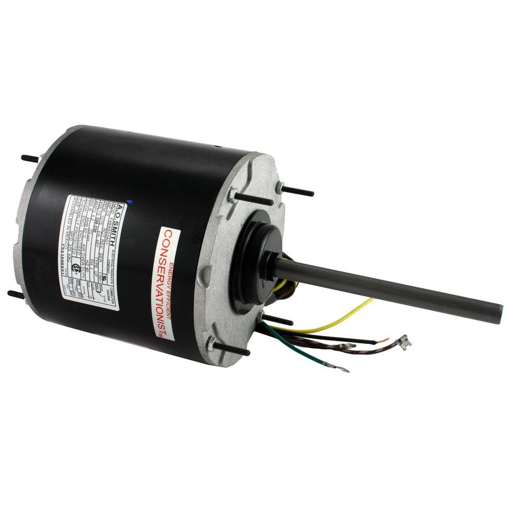 Century 1 2 hp condenser fan motor fse1056sv1 the home depot for Ao smith ac motor 1 2 hp