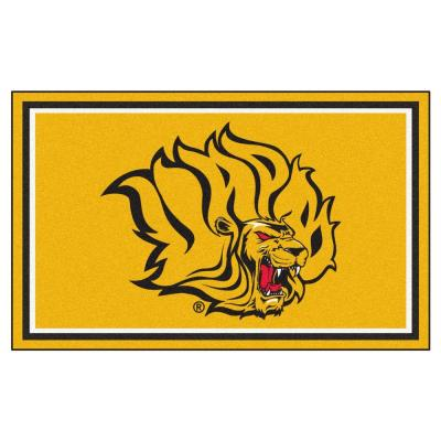 NCAA University of Arkansas at Pine Bluff Gold 4 ft. x 6 ft. Indoor Area Rug