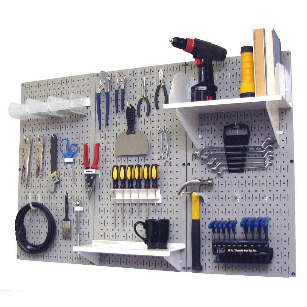 32 in. x 48 in. Metal Pegboard Standard Tool Storage Kit