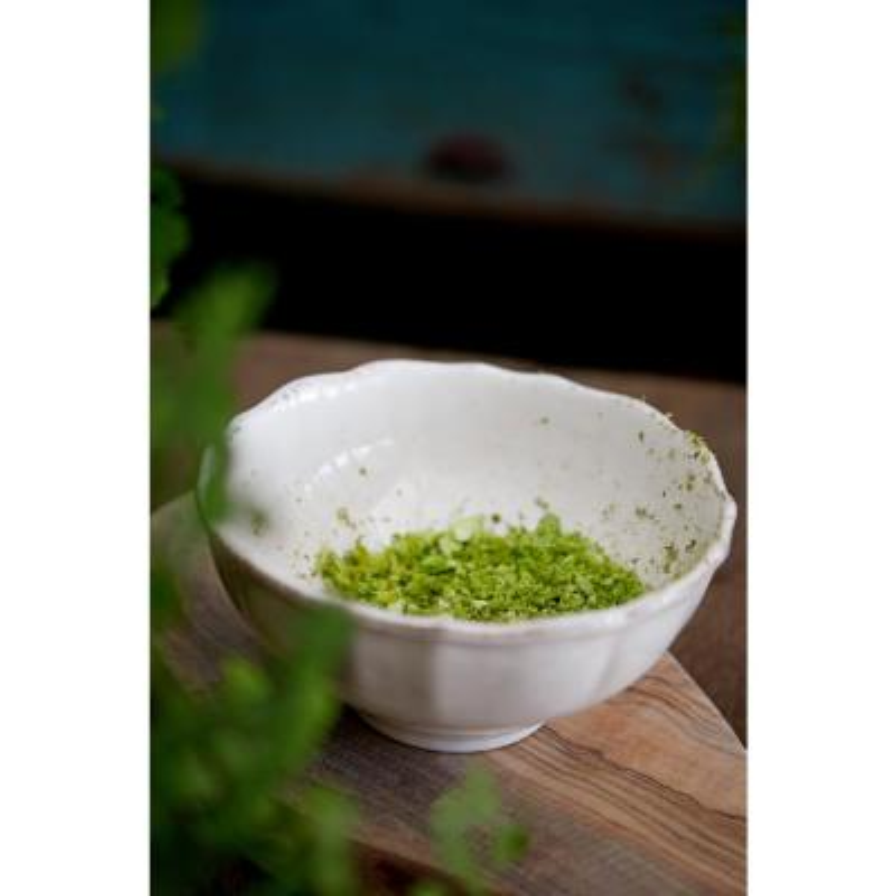 Impressions 10 fl. oz. White Ceramic Stoneware Fruit Bowl (Set of 6)