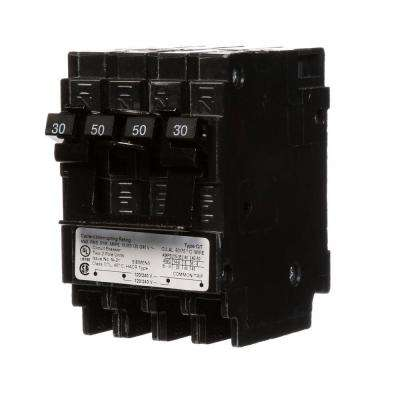Quadplex One Outer 50 Amp Double-Pole and One Inner 30 Amp Double-Pole-Circuit Breaker
