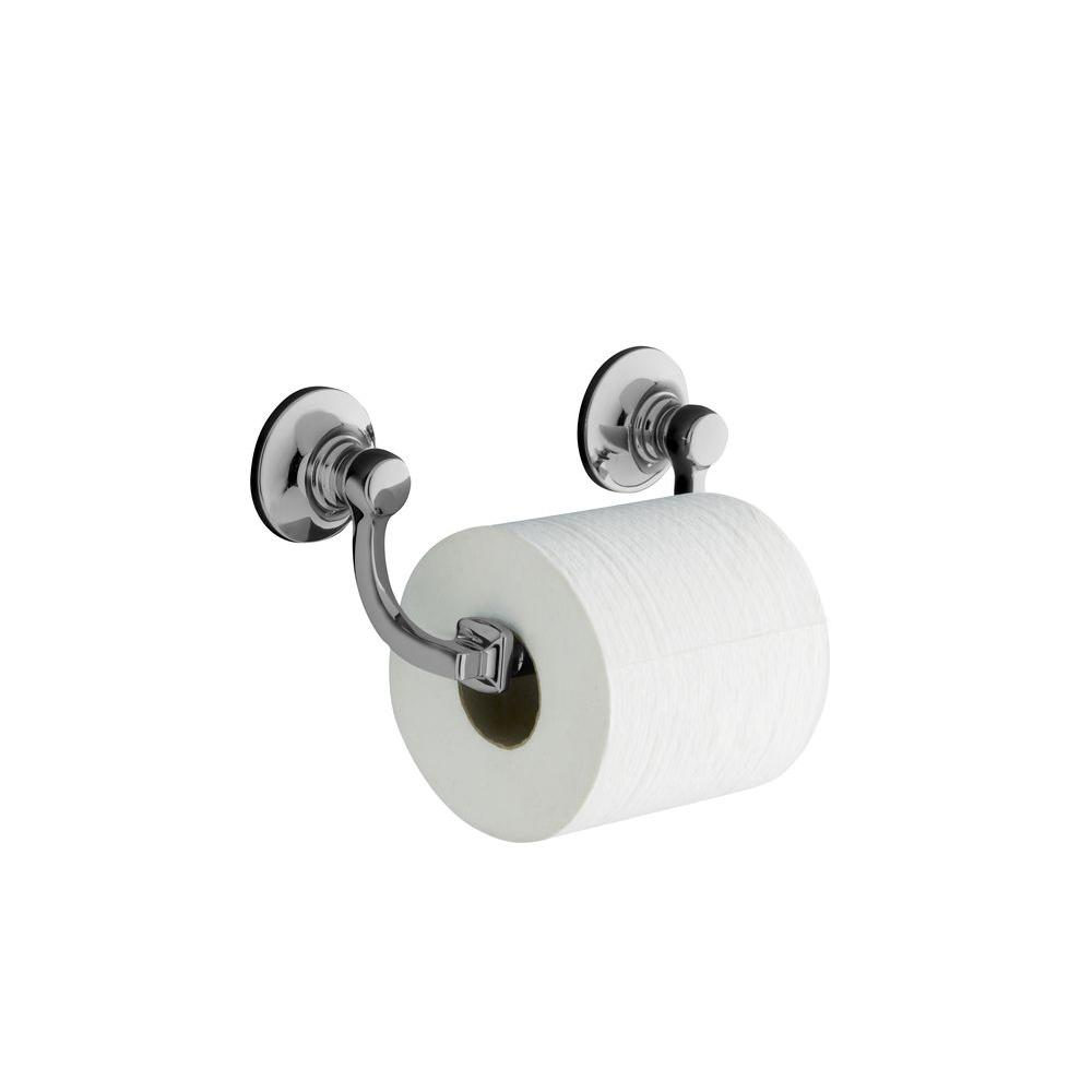 Bancroft Wall-Mount Double Post Toilet Paper Holder in Polished Chrome