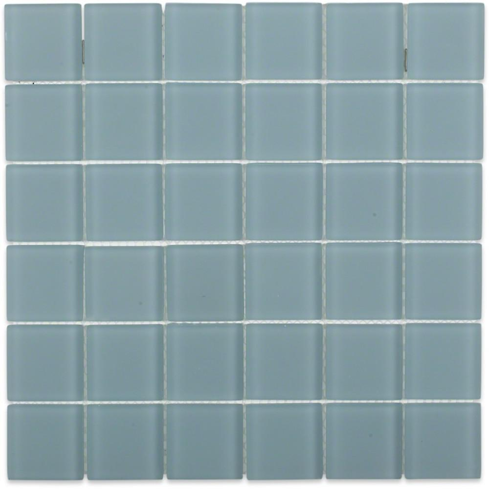 Ivy Hill Tile Contempo Blue Gray Frosted Gl 12 In X 8 Mm Floor And Wall