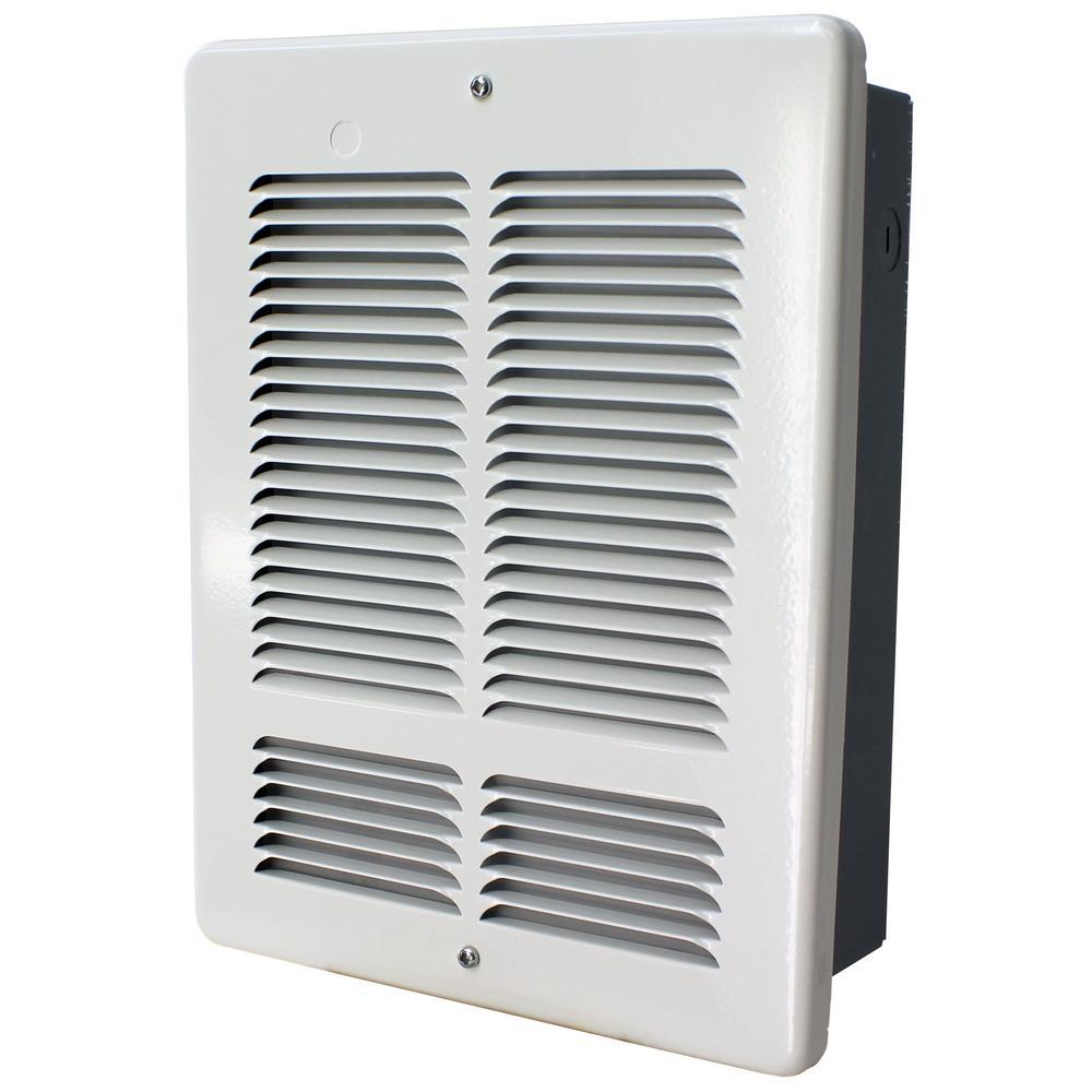 W 1000-Watt/500-Watt 3412 BTU Electric Wall Heater 120-Volt White