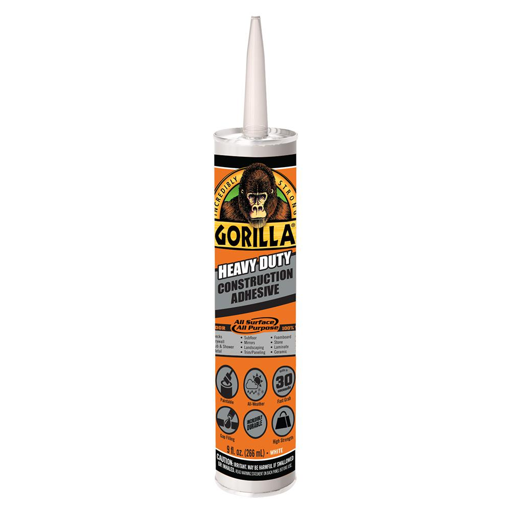 Gorilla 9 oz. Heavy Duty Construction Adhesive