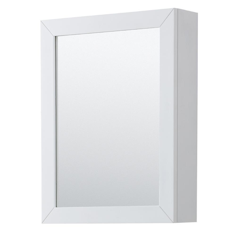 Daria 24 in. W x 30 in. H Framed Wall Mirror in White