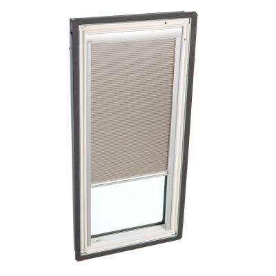 44-1/4 in. x 26-7/8 in. Fixed Deck-Mount Skylight with Laminated Low-E3 Glass and Beige Manual Room Darkening Blind