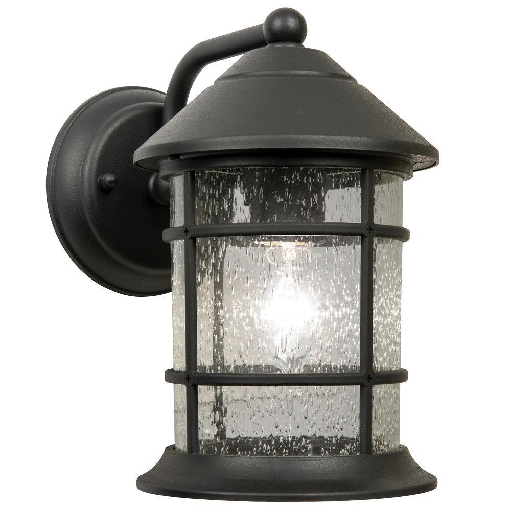 Sunset Black Outdoor Wall Lantern Sconce