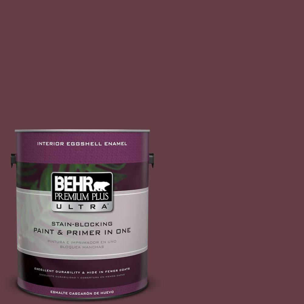 BEHR Premium Plus Ultra 1-gal. #120F-7 Plum Raisin Eggshell Enamel Interior Paint