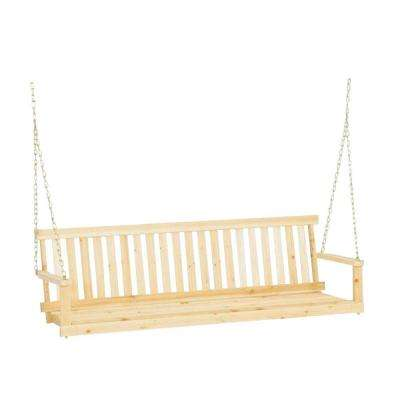 Jennings 5 ft. Traditional Wood Porch Patio Swing