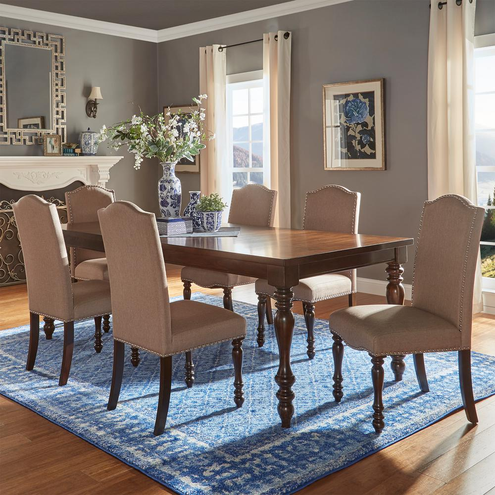 HomeSullivan Madison 7-Piece Sand Beige Extendable Dining Set ...