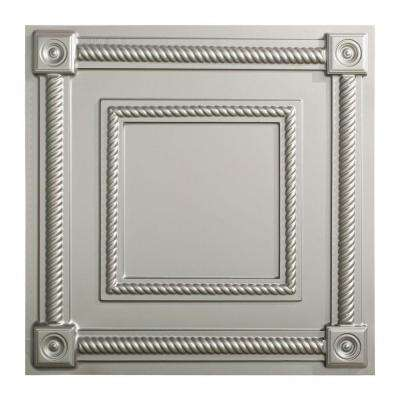Coffer - 2 ft. x 2 ft. Lay-in Ceiling Tile in Argent Silver