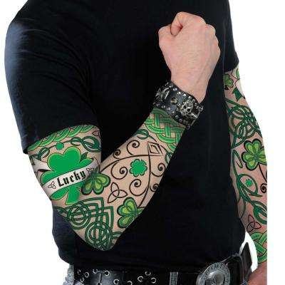 Nylon St. Patrick's Day Tattoo Sleeves (2-Count, 2-Pack)