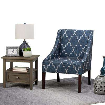 Hayworth Cobalt Blue Fabric Arm Chair