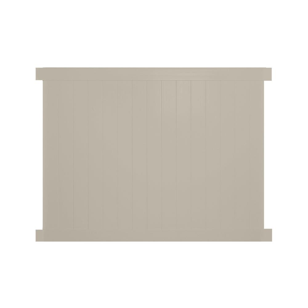 Weatherables Savannah 4 Ft H X 6 Ft W Khaki Vinyl