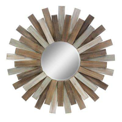 Wooden Sunburst Decorative Mirror