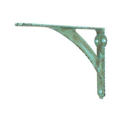 10 in. x 8 in. Vintage Green Medium Duty Shelf Bracket