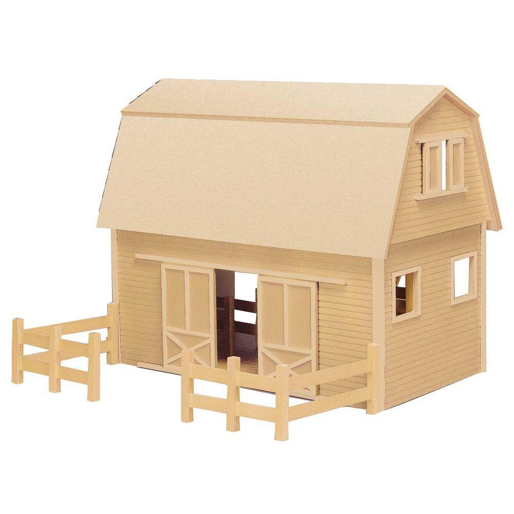 Ruff n rustic barn dollhouse kit 94594 the home depot for Home depot home plans
