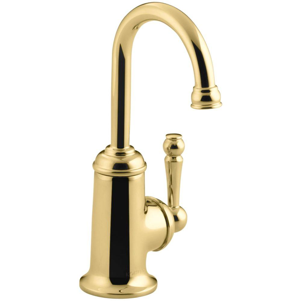 KOHLER Wellspring Single Handle Bar Faucet in Vibrant Polished Brass ...