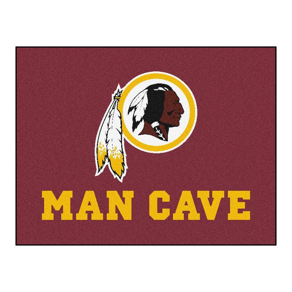 Washington Redskins Red Man Cave 3 ft. x 4 ft. Area Rug