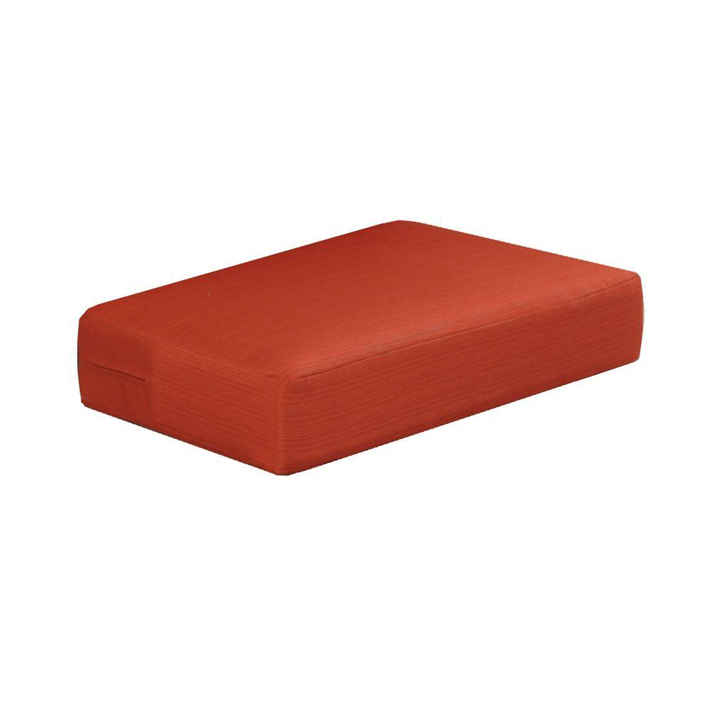 Martha Living Charlottetown Quarry Red Replacement Outdoor Ottoman Cushion
