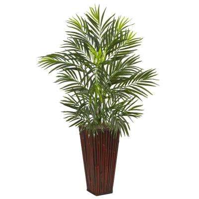 Indoor Areca Artificial Palm in Bamboo Planter