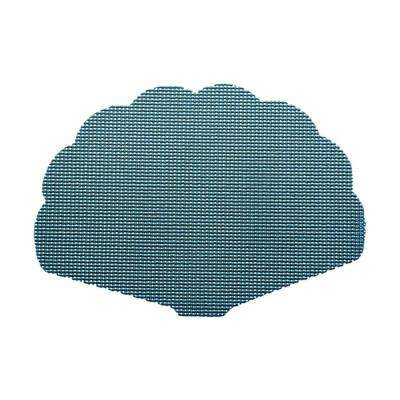 Niagara Blue Fishnet Shell Placemat (Set of 12)