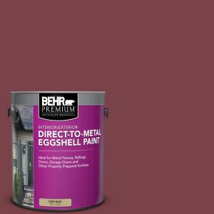 Behr Premium 1 Gal Ppu1 13 Spiced Wine Eggshell Direct To Metal Interior Exterior Paint 723001 The Home Depot