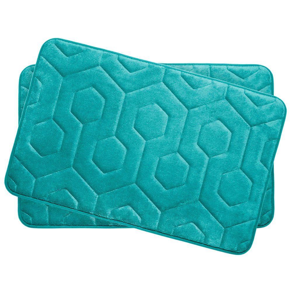 Bouncecomfort Hexagon Turquoise 17 In X 24 In Memory