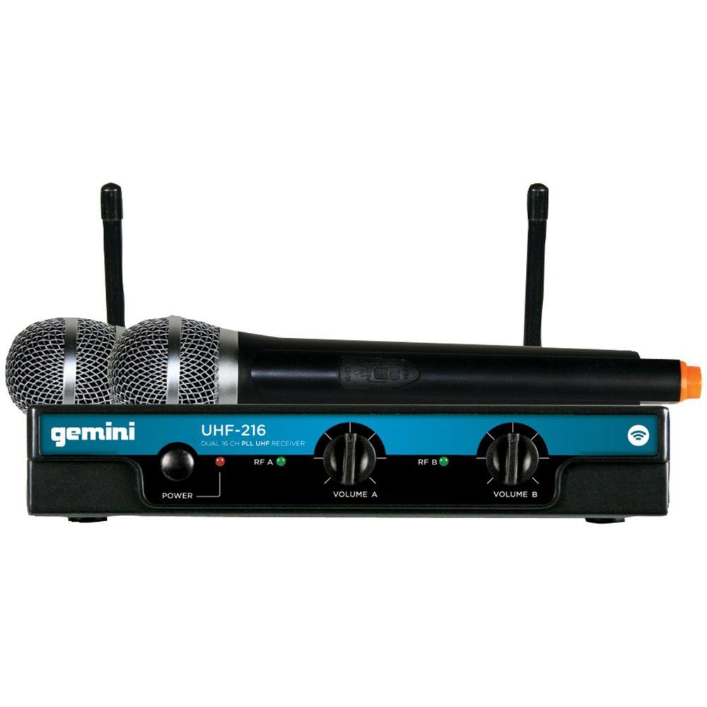 GCI Dual-Channel Wireless Microphone System with 2 Handhe...