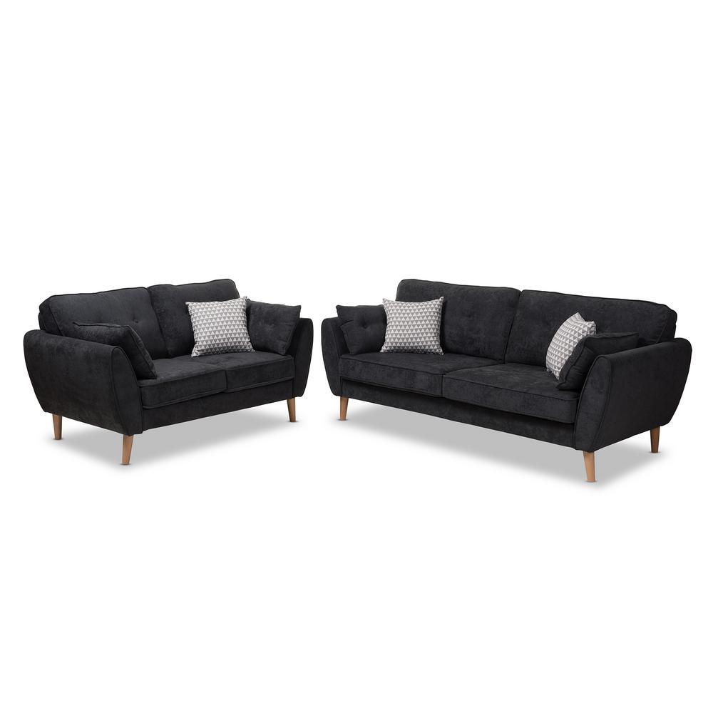 Miranda 2-Piece Light Gray Living Room Set