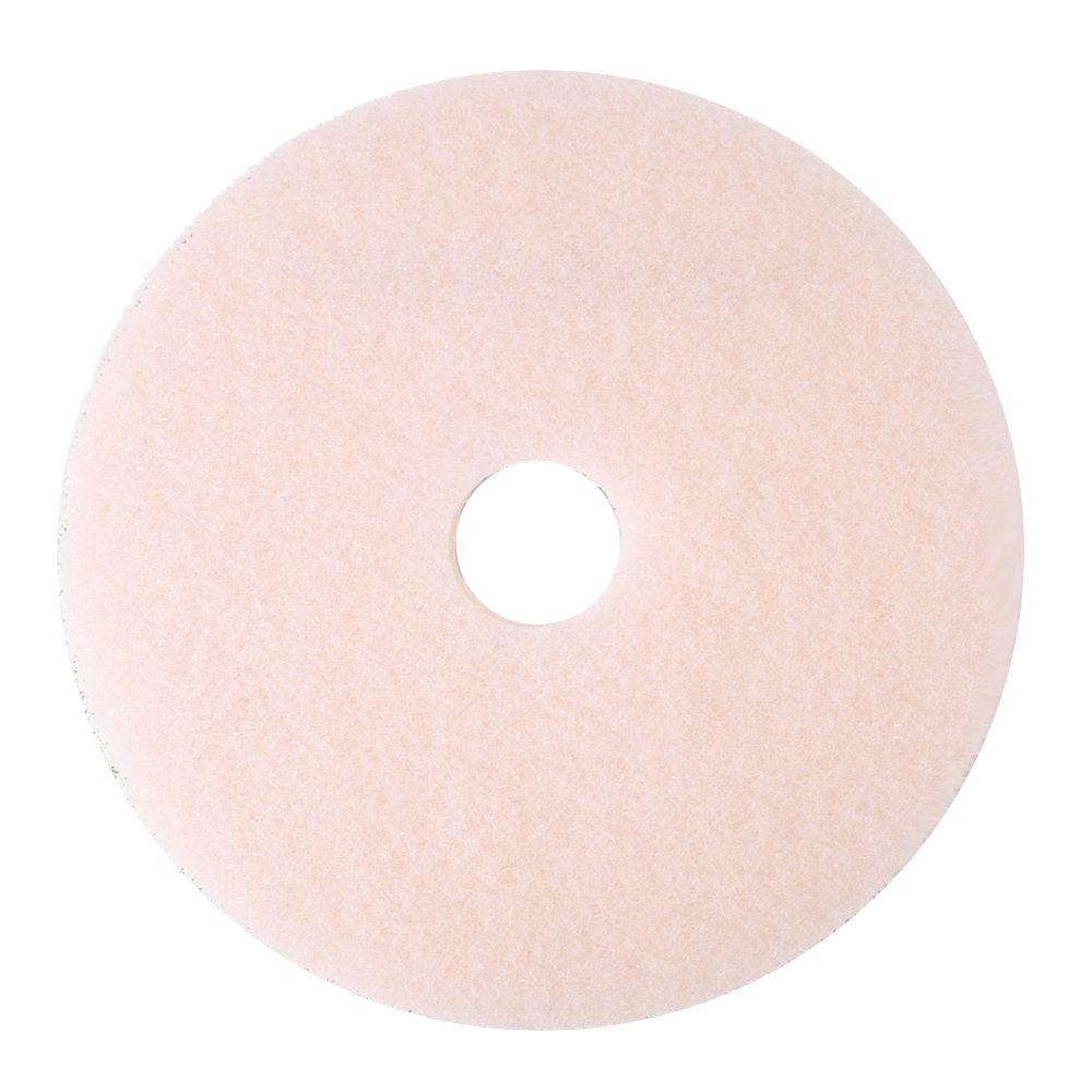20 in. Ultra High-Speed Eraser Pink Floor Burnishing Pads 3600 (Case