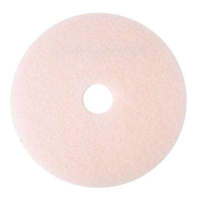 20 in. Ultra High-Speed Eraser Pink Floor Burnishing Pads 3600 (Case of 5)