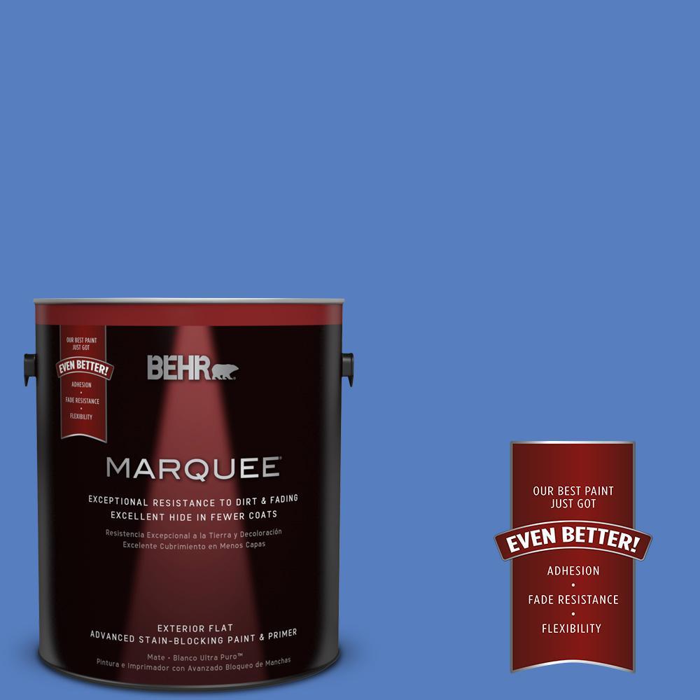 1 gal. #MQ4-25 Blue Iolite Flat Exterior Paint