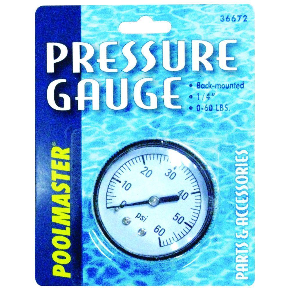 1/4 in. 0 lb. to 60 lb. CD Bottom Mounted Pressure Gauges